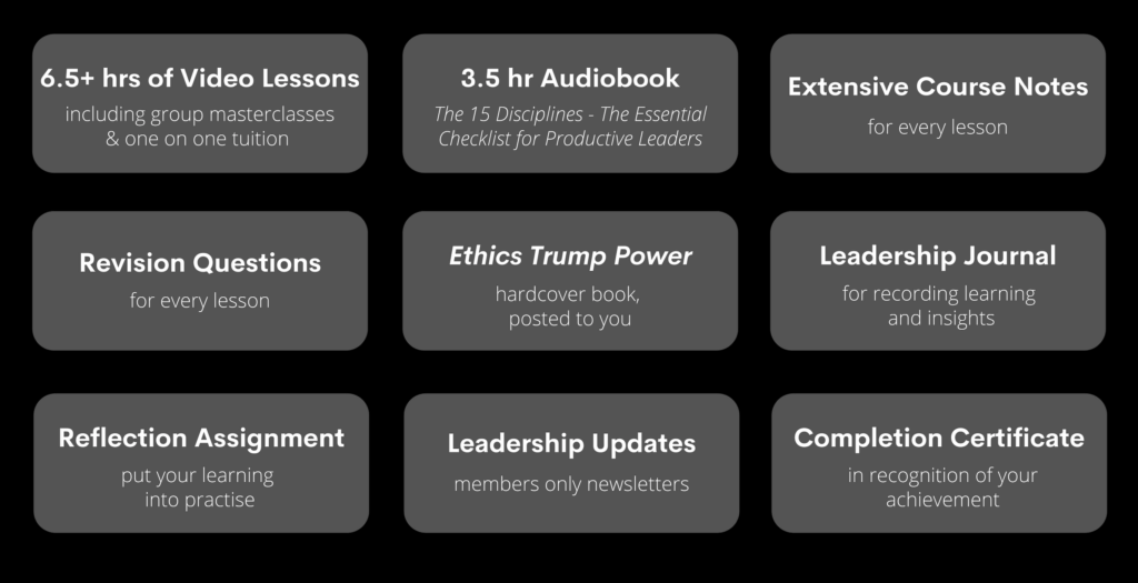 Online Leadership Course Inclusions